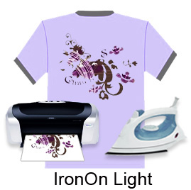 "Iron On Light Transfer Paper (8.5""X11"",100sheets/pack)"