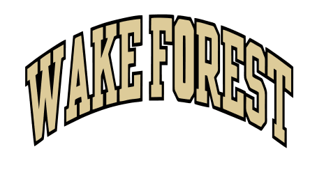 Wake forest logo iron on transfers